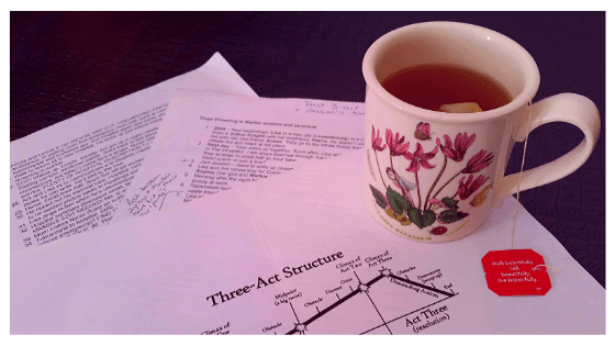 cup of tea and three-act structure